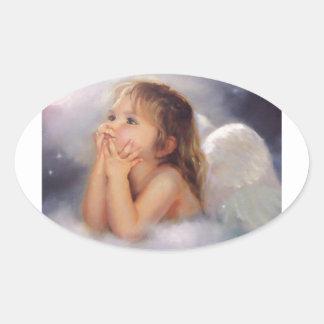 Cherub Angel Oval Sticker