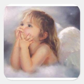 Cherub Angel Square Sticker
