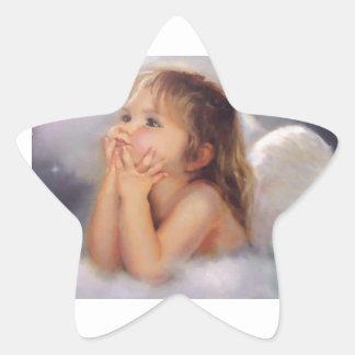 Cherub Angel Star Sticker