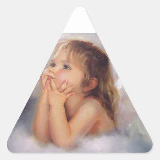 Cherub Angel Triangle Sticker