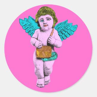 Cherub Round Sticker