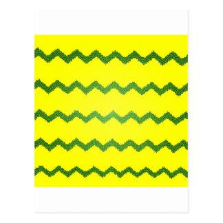 Chevrons Pattern Shower Party Peace Love Destiny Postcard
