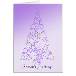 Chic Christmas tree design in purple Greeting Card