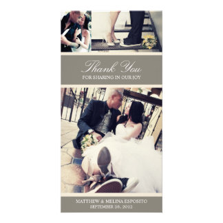 CHIC CREAM GRATITUDE | WEDDING THANK YOU CARD PHOTO GREETING CARD