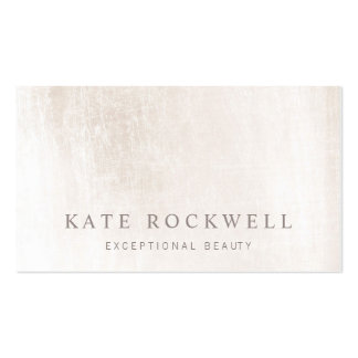 Chic Minimalist Ivory White Stone Business Card