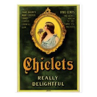 chiclets postcard