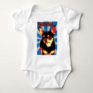 chihuahua revolution - blue shirt