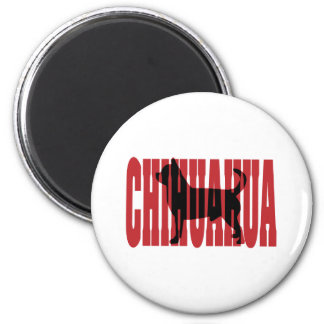 Chihuahua silhouette 2 inch round magnet