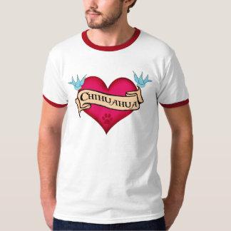 Chihuahua Tattoo Heart T-shirt