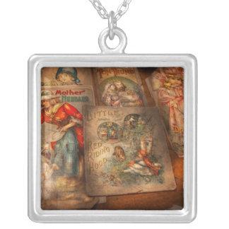 Children - Books - Fairy tales Square Pendant Necklace