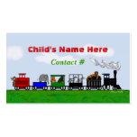 Children's Train Calling Card Business Card
