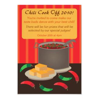 Chili Cook Off Invitation Announcement