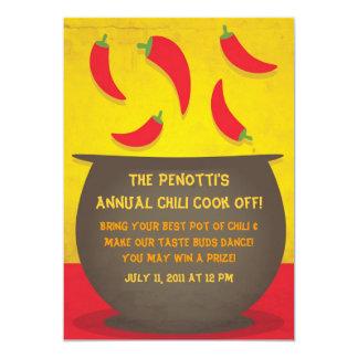 Chili Pot - Cook Off Invitation