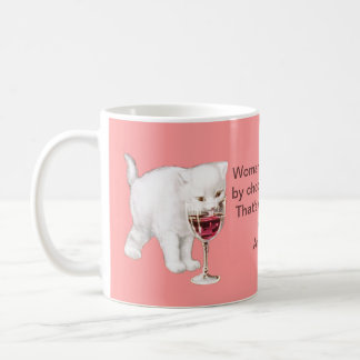 Chocolate Wine and Cats Facts of Life Mug