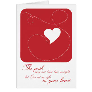 Christian greeting card: The Path to Your Heart Greeting Card