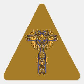 Christian Ornate Cross 8 Triangle Sticker