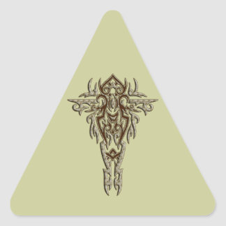 Christian Ornate Cross 9 Triangle Sticker
