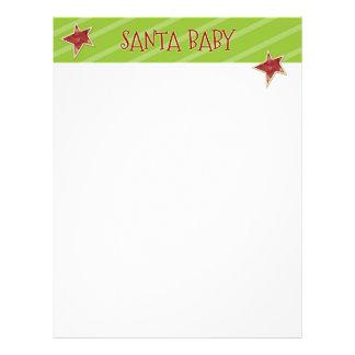 Christmas Letter Paper - Santa Baby Stars Customized Letterhead