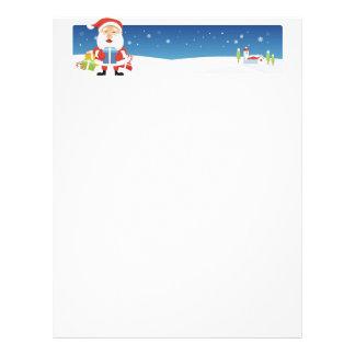 Christmas Letter Paper - Santa Banner Letterhead Template