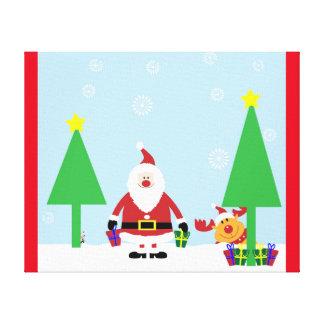 CHRISTMAS SANTA SCENE CANVAS PRINT