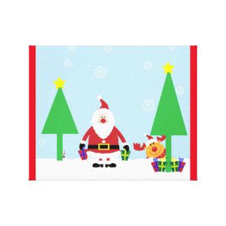 CHRISTMAS SANTA SCENE GALLERY WRAP CANVAS