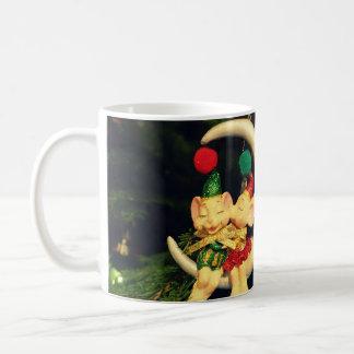 Christmas's mice on the Moon Classic White Coffee Mug