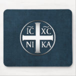 Christogram ICXC NIKA Jesus Conquers Mouse Pad