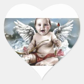Chubby Cherub Heart Sticker
