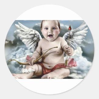 Chubby Cherub Round Sticker