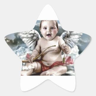 Chubby Cherub Star Sticker