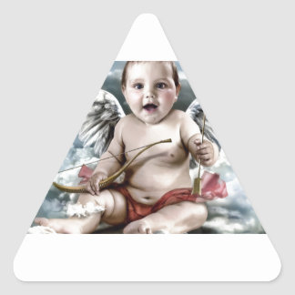Chubby Cherub Triangle Sticker
