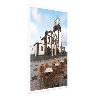 Church in Azores Stretched Canvas Prints