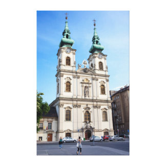 Church of Saint Anne in Budapest Gallery Wrapped Canvas