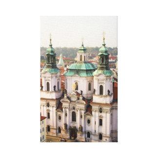 Church of St. Nicholas in Prague Gallery Wrap Canvas