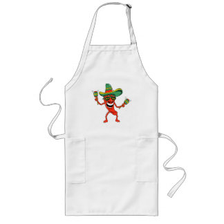 Cinco de Mayo Chili Pepper T-shirts and Gifts Long Apron
