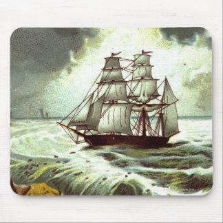 Circa 1880 : Une carte de voeux de Noël Tapis De Souris