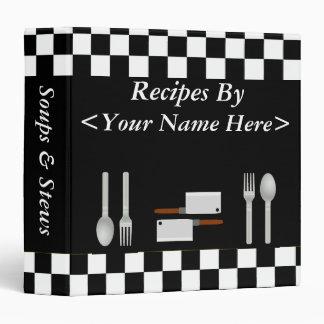 Classeur de recette personnalisé grand par damier