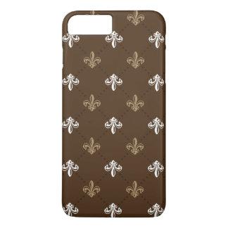 Classic Fashion Fleur-de-lis Brown Pattern iPhone 7 Plus Case