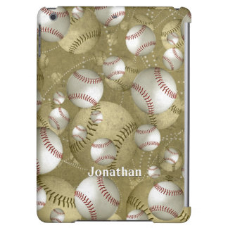 classic new over vintage dual pattern baseball case for iPad air