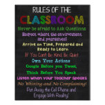 Classroom Rules, Teacher Gift, Educational Gift Poster