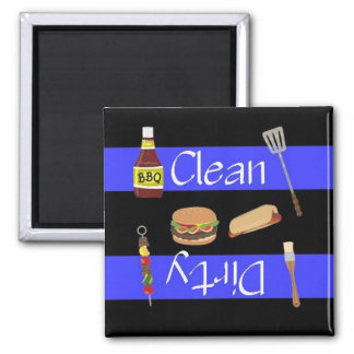 Clean or Dirty Cookout Dishwasher Magnet