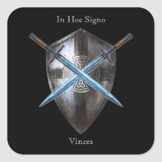 Coat of Arms Sticker - In Hoc Signo Vinces