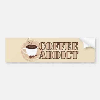 Coffee Addict Mug and Beans Bumper Sticker