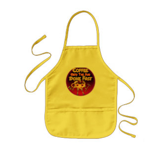 Coffee gets the job done fast kids apron