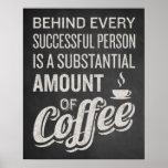 Coffee Sign. Coffee Decor. Funny Coffee Saying. Poster