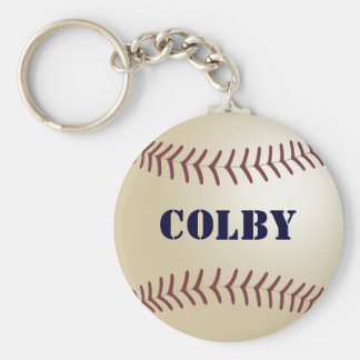 Colby Baseball Keychain by 369MyName