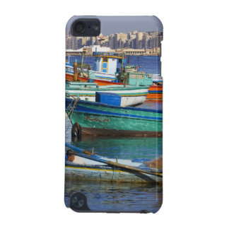 Colorful fishing boats in the Harbor of iPod Touch 5G Cases