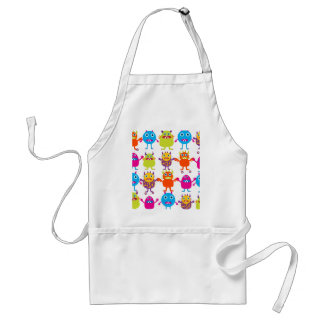Colorful Funny Monster Party Creatures Bash Standard Apron
