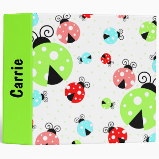 Colorful Ladybug & Polka Dot Binder