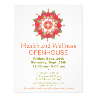 Colorful Red Lotus Health and Wellness Flyer 2